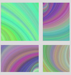 Multicolored psychedelic brochure background set vector image vector image