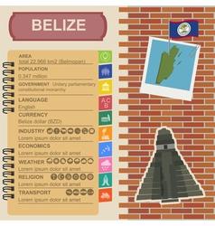 Belize infographics statistical data sights vector image