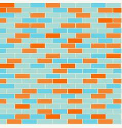 cartoon seamless coloful flat brick wall texture vector image vector image