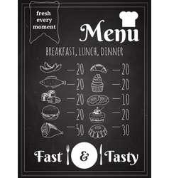 Food Menu Poster Design vector image vector image