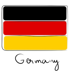 Germany flag doodle vector image