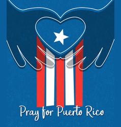 hurricane relief for puerto rico design vector image vector image