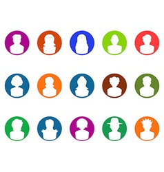 Round button avatar icons vector