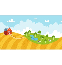 Seamless rural landscape vector image vector image
