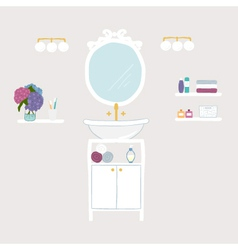 Set of bathroom and personal hygiene icons vector image