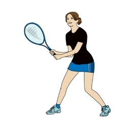 tennis girl vector image