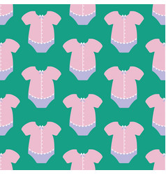 Baby girl fashion pattern vector