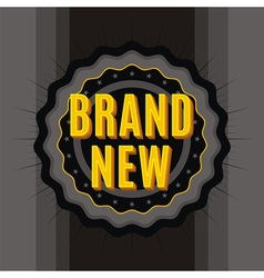 brand new stamp vector image