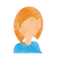 portrait girl celebration gesture vector image
