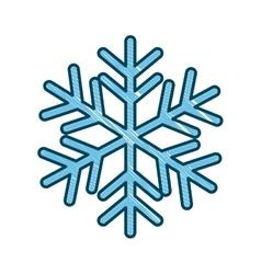 single snowflake icon image vector image