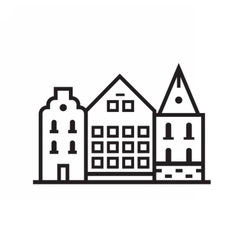 Street and House Emblem vector image vector image