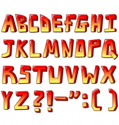 stylized letters vector image vector image
