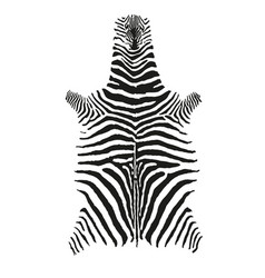 zebra skin print black and white vector image vector image