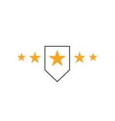5 five star logo design premium good rate symbol vector image