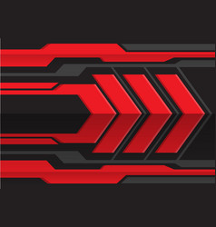 abstract red gray arrow futuristic vector image
