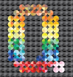Alphabet of colorful mosaic vector image