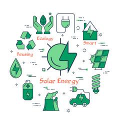 banner of alternative energy - solar source vector image
