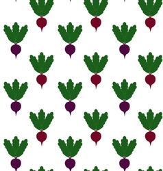 beet pattern Seamless texture with ripe beetroot vector image