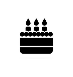 birthday cake icon concept for vector image