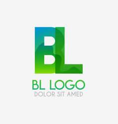 bl logo with striking colors and gradations vector image