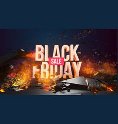 black friday sale discount template vector image