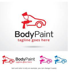 Body paint logo template vector
