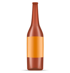 bottle of beer icon realistic style vector image