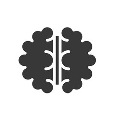 brain aerial view solid icon medical and organ set vector image