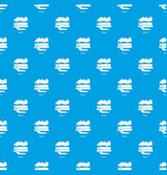 Carpet brush pattern seamless blue vector