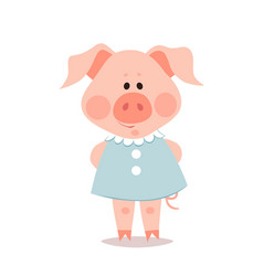 cartoon little pig the year of the pig vector image