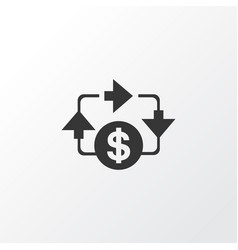 cash flow icon symbol premium quality isolated vector image