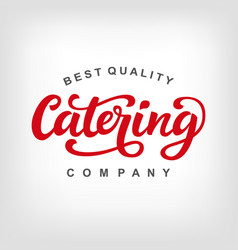 Catering logo badge vector