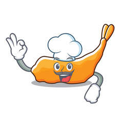 Chef tempura character cartoon style vector