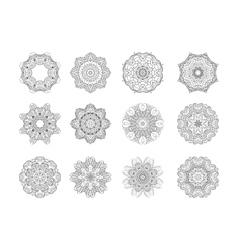 Circular pattern set vector image