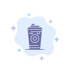 Coffee mug starbucks black coffee blue icon on vector