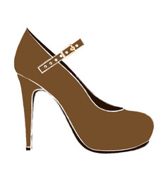 Color sketch of high heel shoe vector