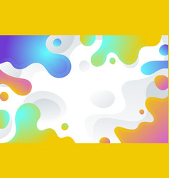 colorful abstract liquid shape background vector image