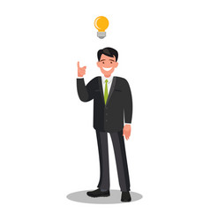 concept a great idea businessman shows vector image