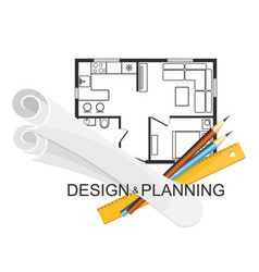design and planning architecture symbol vector image