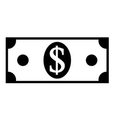 dollar icon on white vector image