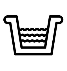 Drainage gutter icon outline style vector