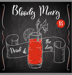 dring poster cocktail bloody mary for vector image
