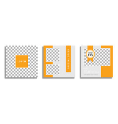 Editable social media templates instagram stories vector