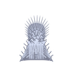 empty iron throne cartoon style vector image