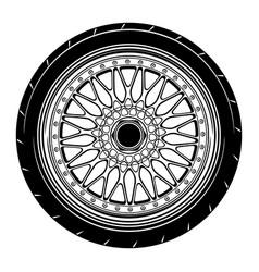 Flat car wheel 13 vector
