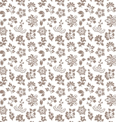 Floral seamless background - pattern for continuou vector image