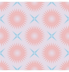 geometric seamless pattern pastel palette vector image