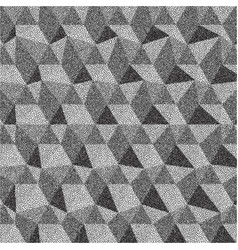 Geometric triangles background mosaic grainy vector