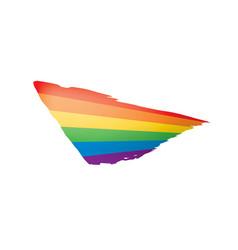 grunge rainbow flag isolated on white background vector image