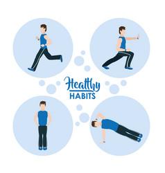 Healthy habits exercise vector